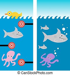 Fish Shooting Gallery Background