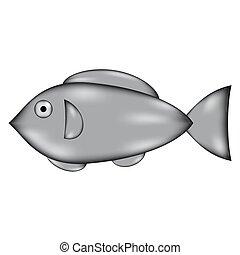 Fish sign icon.