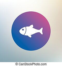 Fish sign icon. Fishing symbol.
