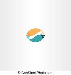 fish sign logo icon vector design symbol