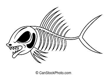 fish, skelet