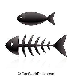 Fish skeleton vector illustration
