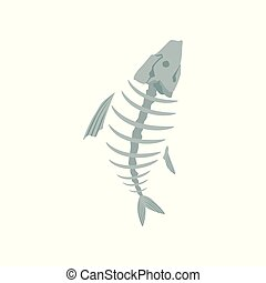 Fish skeleton, recycling garbage concept, utilize waste...