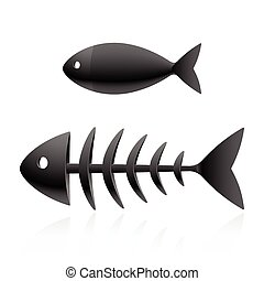 Fish skeleton vector illustration