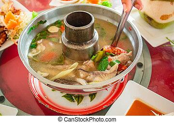 Fish soup, Tom Yum Fish.