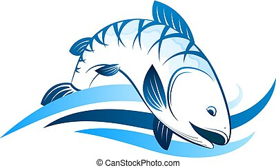 Fish symbol for fishing