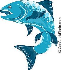 Fish symbol for fishing
