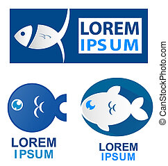 fish symbol set
