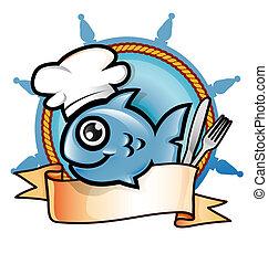 fish, symbole, restaurant