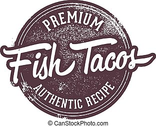 Fish Taco Menu Stamp