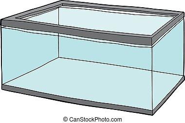 Fish Tank Full of Water - Single rectangular pet fish tank...