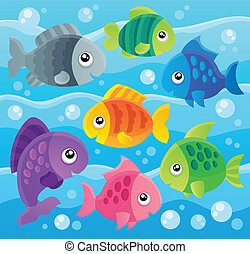 Fish theme image 7 - eps10 vector illustration.