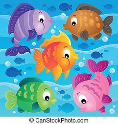 Fish theme image 9 - eps10 vector illustration.
