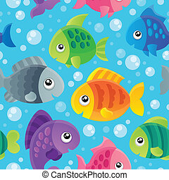 Fish theme seamless background 1