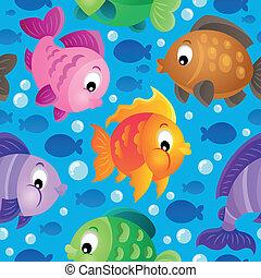 Fish theme seamless background 2