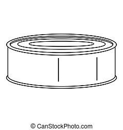 Fish tomato tin can icon, outline style