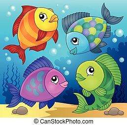 Fish topic image 3 - eps10 vector illustration.