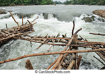 Fish Trap In the Mekong River