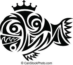 fish, tribale