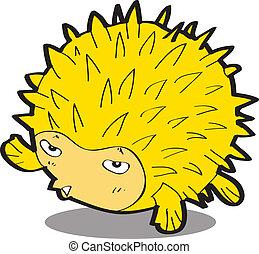 fish-urchin, caricatura
