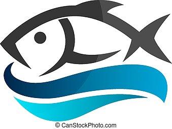 fish, vagues