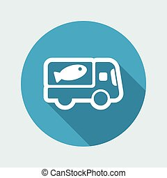 Fish van icon