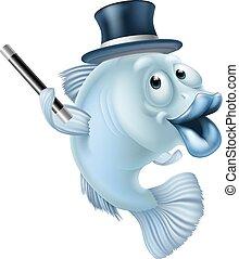 fish, varázslatos, karikatúra
