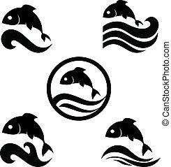 fish, vecteur, illustration