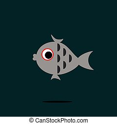 fish, vector.