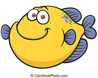 Fish - Vector illustration of Fish cartoon