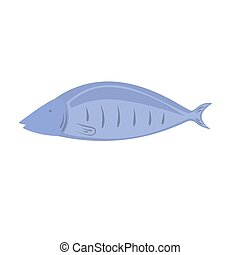 Fish vector illustration on a white background