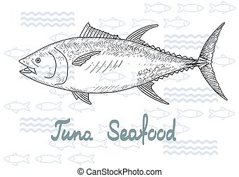 Fish vector tuna