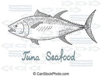 Fish vector tuna