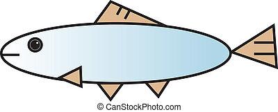 fish, vektor, ábra
