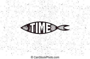 fish, vettore, illustration., icona