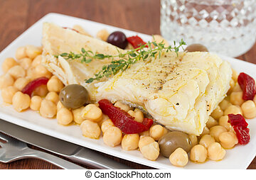 fish with chick-pea