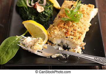 fish with hazelnut breaded