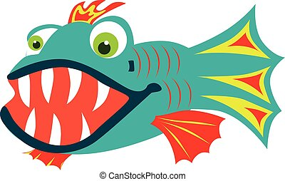 Fish with sharp teeth