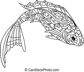 Still life coloring book antistress style picture Still vector