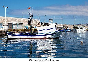 Fishboat on harbor