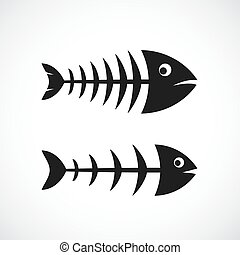 Fishbone frame vector icon