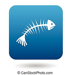 Fishbone icon in simple style