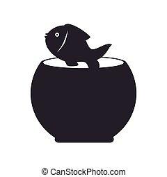 fishbowl, fish, mascotte