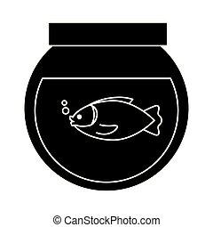 fishbowl, image, icône
