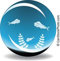 fishbowl, wektor