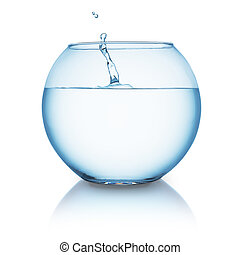 fishbowl with water splash