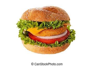 Fishburger isolated