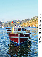 Fisher boat on the sea