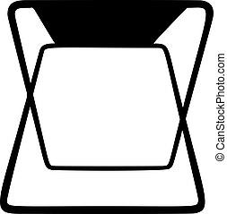 Fisher stool vector on white background