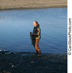 Fisherman and Salmon